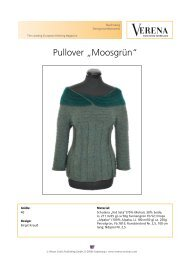"Pullover ""Moosgrün"" - Verena Stricken"