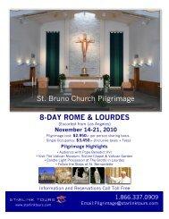 8-DAY ROME & LOURDES St. Bruno Church ... - Starlink Tours