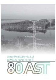 AUGSTSPRIEGUMA TĪKLS AS SEPARATE REPORT OF 2019