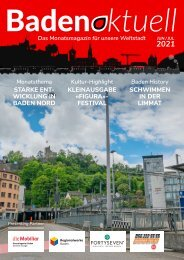 Baden aktuell Magazin Doppelausgabe Juni/Juli 2021