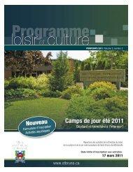 Programme du Loisir - printemps 2011- Ville de Saint-Bruno-de ...