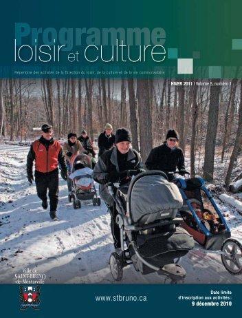Programme Loisir et culture - hiver 2010-2011- Ville de Saint-Bruno ...