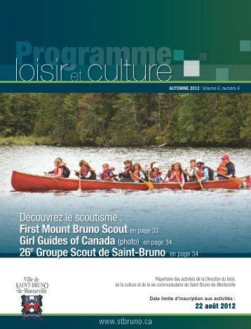 Programme Loisir et culture - automne 2012 - Ville de Saint-Bruno ...