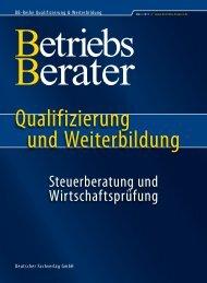 Steuerberatung und Wirtschaftsprüfung Frühjahr - Betriebs-Berater