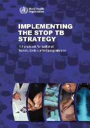 Tuberculosis handbook - World Health Organization