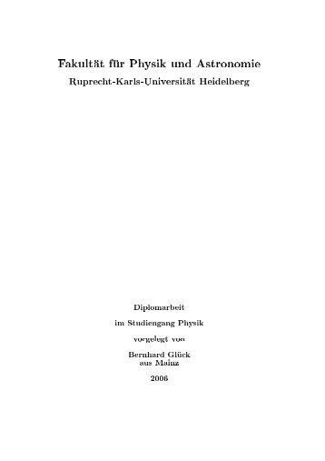 Fakult at f ur Physik und Astronomie Ruprecht-Karls ... - PubMan