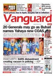 28052021 - 20 Generals may go as Buhari names Yahaya new COAS