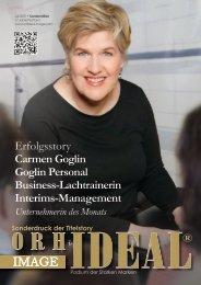 Carmen Goglin - Unternehmerin des Monats - Orhideal IMAGE Magazin Juli 2021