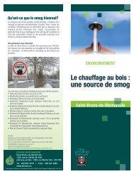 le chauffage au bois - Ville de Saint-Bruno-de-Montarville