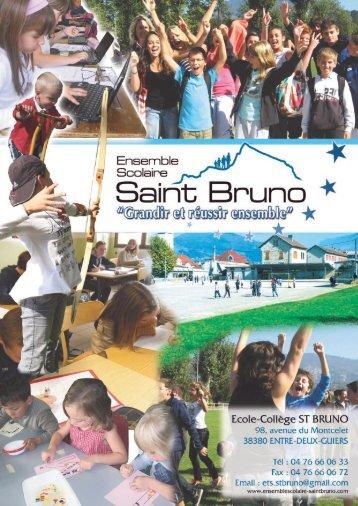 Télécharger la brochure - collège saint Bruno