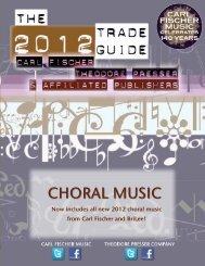 CHORAL MUSIC - the Theodore Presser Company