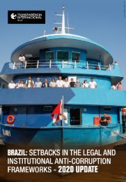 Brazil: Setbacks in the Legal and Institutional Frameworks - 2020 UPDATE