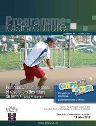 Programme Loisir et culture - Printemps 2012 - Ville de Saint-Bruno ...