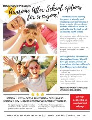 Dovercourt After School program Fall2021