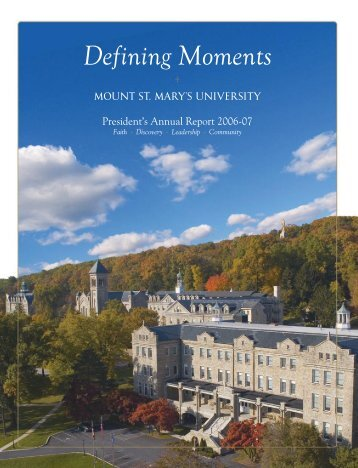 Defining Moments - Mount St. Mary's University