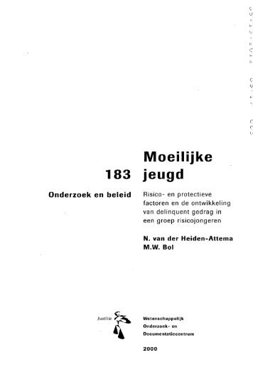 Moeilijke 183 jeugd - WODC