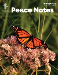 Peace Notes Summer 2021 - Word of Peace Lutheran Church