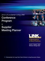Conference Program Supplier Meeting Planner - LTC LINK