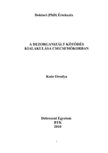 Koós Orsolya értekezes.pdf - Debreceni Egyetem