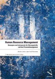 Leseprobe: Gmür/Thommen: Human Resource Management