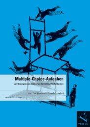 Leseprobe:  Thommen/Peterhoff: Multiple-Choice-Aufgaben zur Managementorientierten Betriebswirtschaftslehre