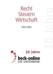fachdienst dstr - Verlag C. H. Beck oHG