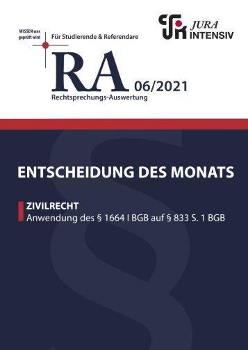 RA 06/2021 - Entscheidung des Monats