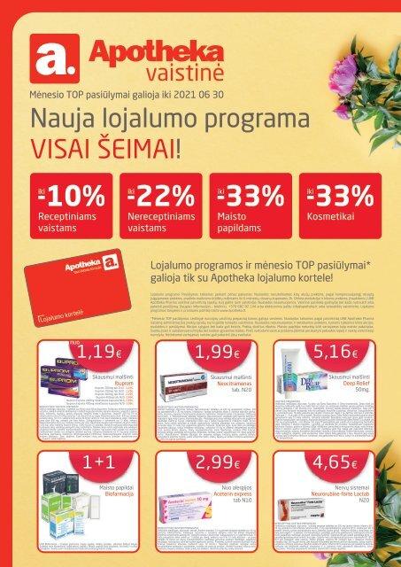 Apotheka vaistinės akcijos / Birželis