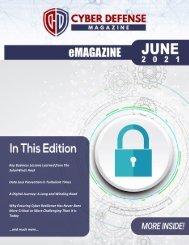 Cyber Defense eMagazine June 2021 Edition