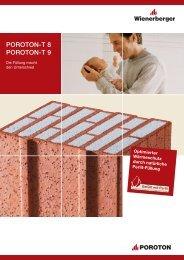 POROTON-T 8 POROTON-T 9 - Bauzentrum Schierholz