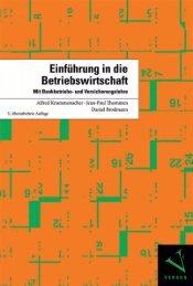 Leseprobe: Krummenacher/Thommen/Brodmann: Einführung in die Betriebswirtschaft
