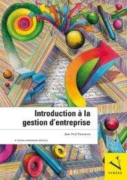 Leseprobe: Jean-Paul Thommen: Introduction à la gestion d'entreprise
