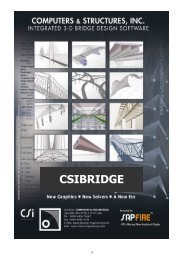 CSiBridge Version 15.0.0 - Computers & Engineering