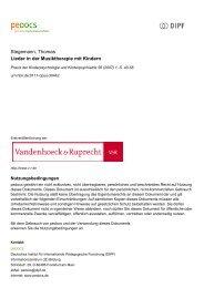 Stegemann, Thomas Lieder in der Musiktherapie mit ... - peDOCS