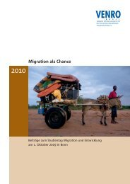 Migration als Chance - Venro