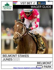 2021 Belmont Stakes Wager Guide XBGlobal