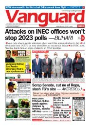 02062021 -  Attacks on INEC offices won't stop 2023 polls —BUHARI