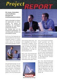 Neues Schornsteinkonzept - Hadek Protective Systems