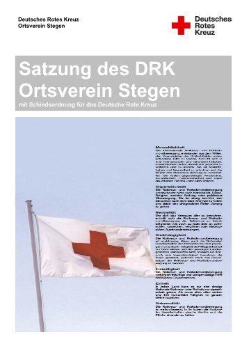 Satzung des DRK Ortsverein Stegen