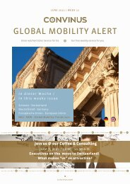 CONVINUS Global Mobility Alert Week 22