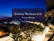 Galaxy Restaurant - Food Menu