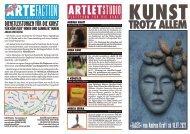 ARTLETstudio Programm-Flyer Juni 2021