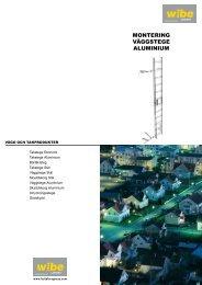 MONTERING VÄGGSTEGE ALUMINIUM - Wibe Ladders