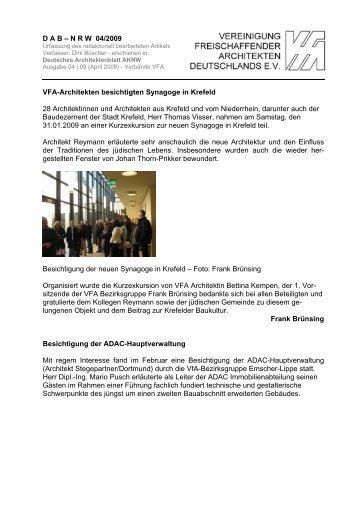 VFA-Architekten besichtigen
