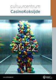 CasinoKoksijde, brochure 2021-2022