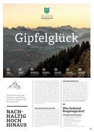 Gipfelglück - Kreuther Bergsteigerdorf Zeitung | Ausgabe 1