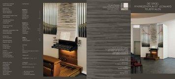 die orgel pfarreizentrum st. leonhard feuerthalen - Orgelbau ...