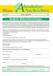 Altenholzer Nachrichten, Freitag, 8. Juli 2011 - bei der Gemeinde ...