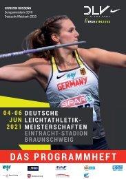Das Programmheft zu den 121. Deutschen Leichtathletik-Meisterschaften