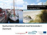 Kystturisters tilfredshed med feriesteder i Danmark
